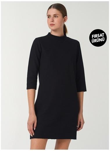 Limon Company Limon Dik Yaka Siyah Kadın Elbise Siyah